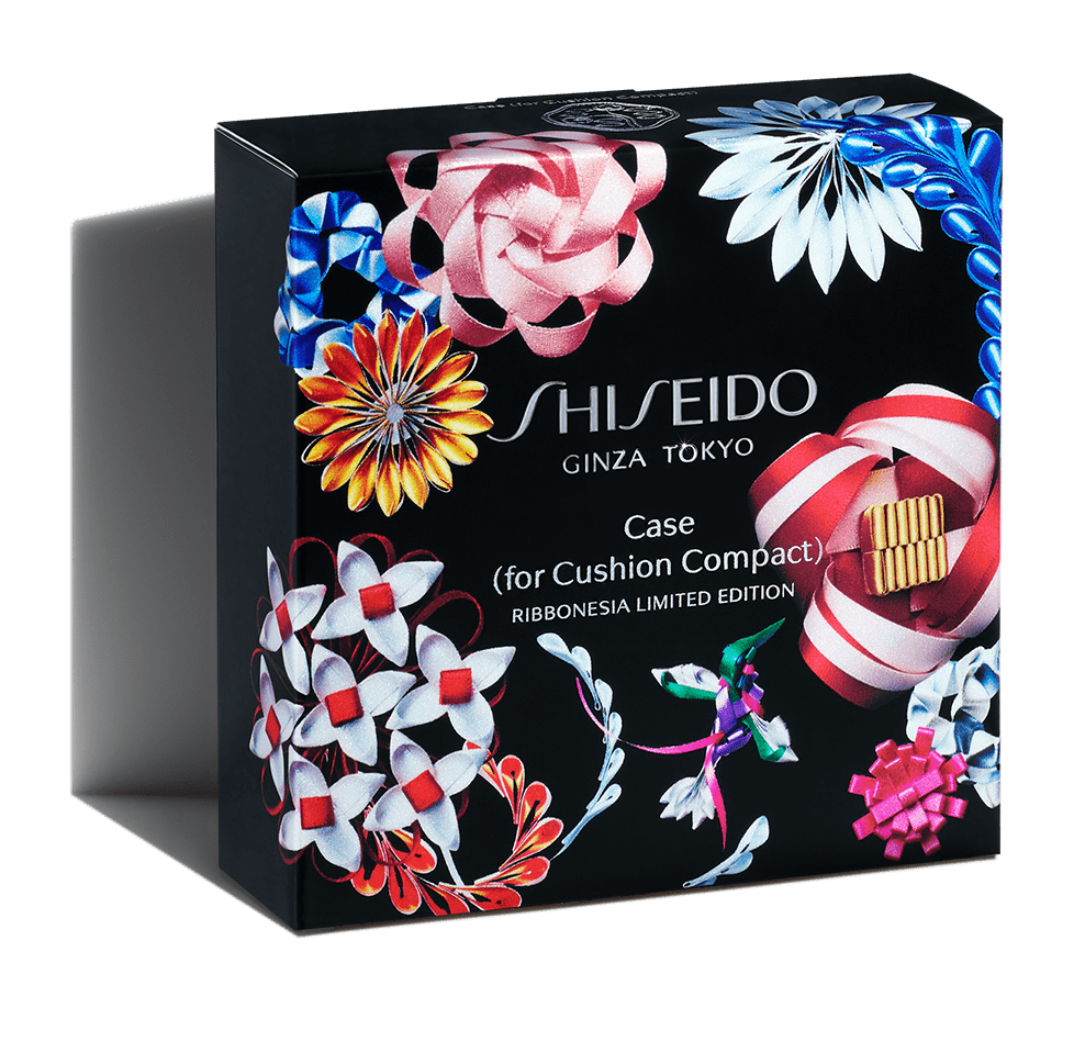 SHISEIDO Cushion Compact Case RIBBONESIA LIMITED EDITION Black / White