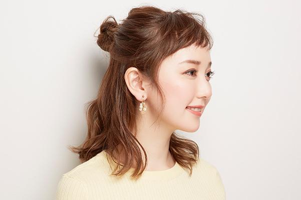 ポイント② 髪をまとめる位置