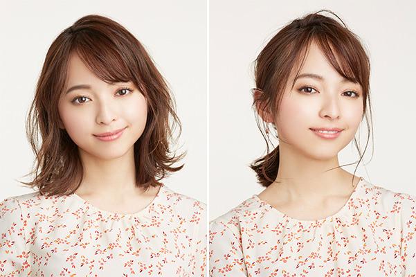 【エラ張り解消テク】髪型のポイントは縦幅強調!ダウン&まとめ髪のつくり方