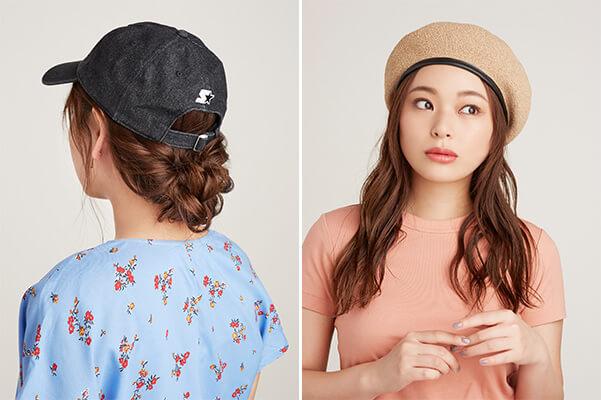 キャップ&ベレーに合う髪型って?帽子コーデを格上げするヘアアレンジ