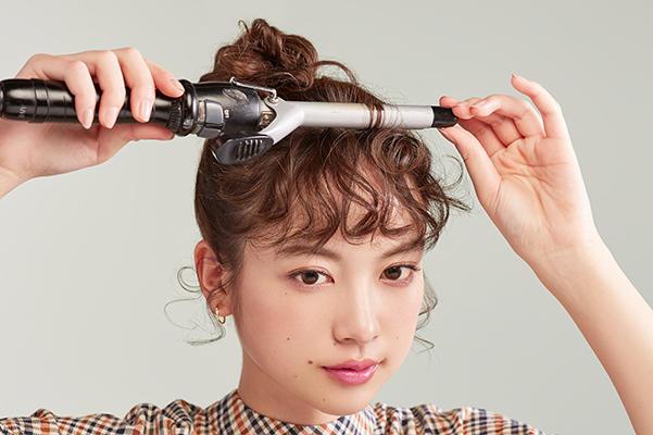 華やかな印象に! くるくる前髪HOW TO